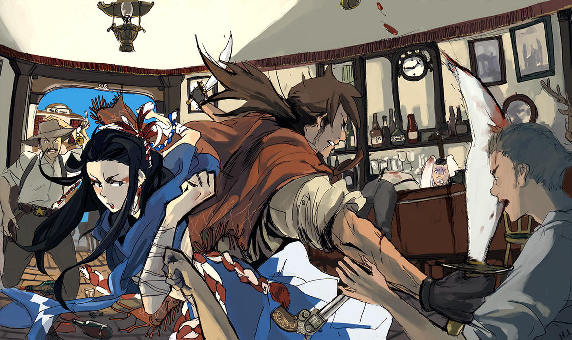 Saloon - Sin-Claire mission by monkey-hero