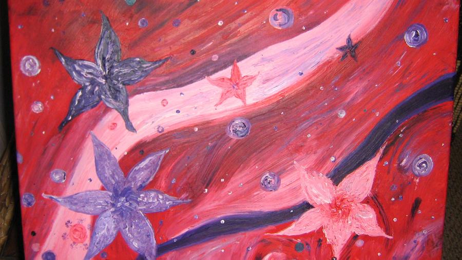 Flowers in space by ArumJuniper