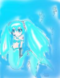 Hatsune Miku Mermaid Pichi by MegaGundamMan