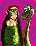 Kaa and Zelda colored