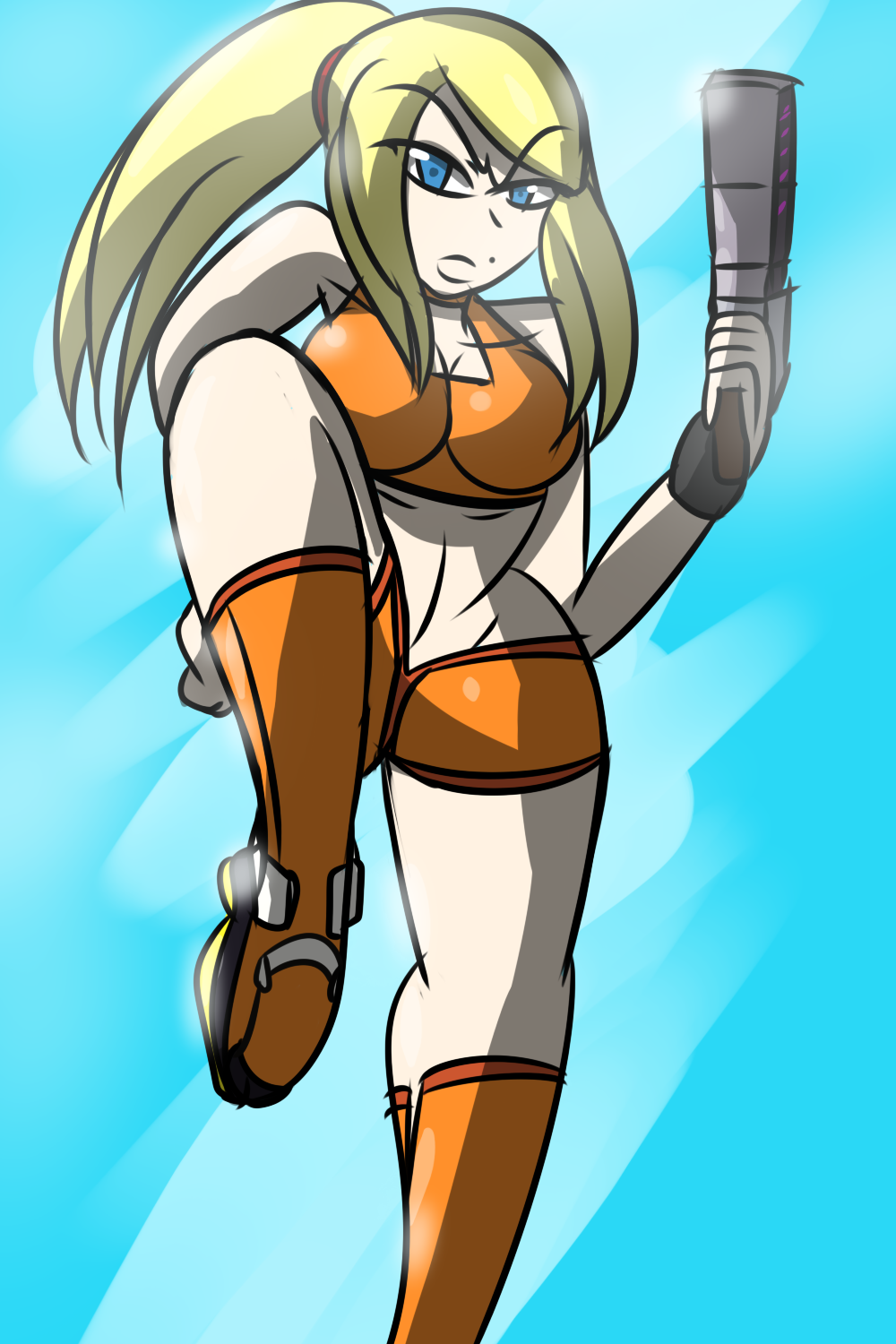 Short Samus by MegaGundamMan on DeviantArt