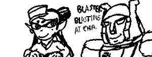 Splatfest Miiverse - Blaster Callie by MegaGundamMan