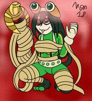 Hypnoween - Tsuyu Mummied by MegaGundamMan