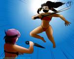 Art Jam - Ninja Beach Jump by MegaGundamMan