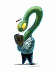 140214 - Ghostbusters Baseballsnake by RoboChandler