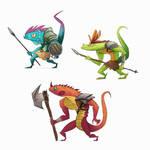 lizardmen SmalltoMedium by RoboChandler