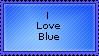 -Stamp- I love Blue by MySoulBeat