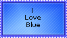-Stamp- I love Blue by MySoulBeat