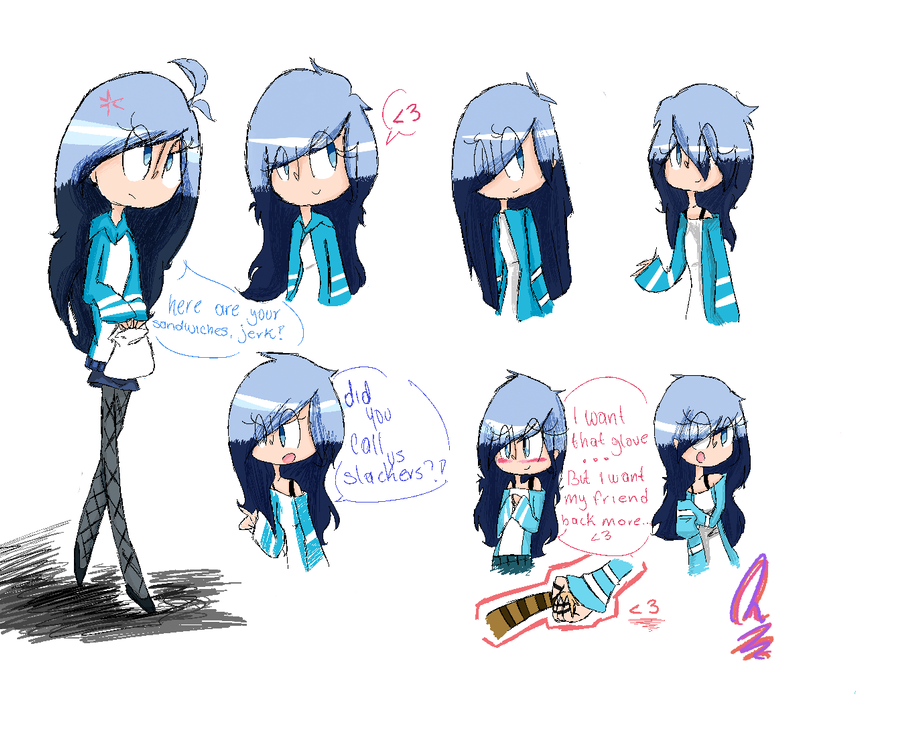 Fem Mordecai - Doodles by MySoulBeat