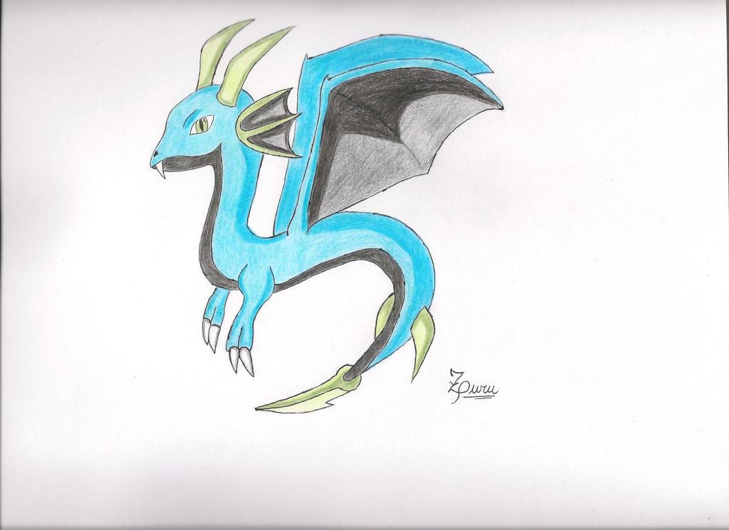 Zuru, el dragon de agua// Zuru, the water dragon by Tomate89