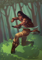 Indian Ninja by ChateNoire