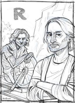 R for Rush and Rumplestiltskin