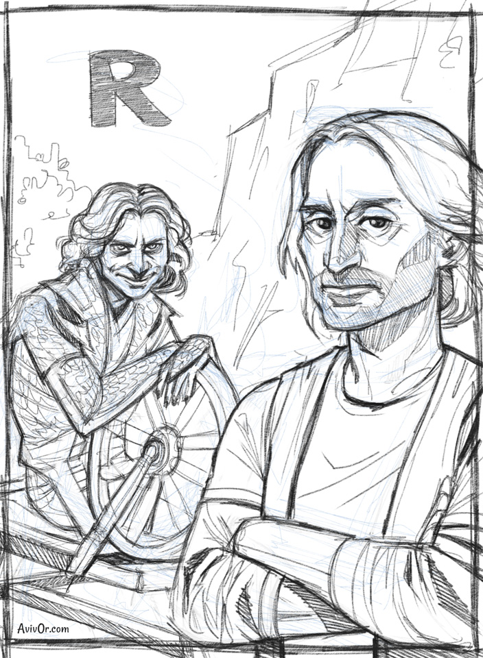 R for Rush and Rumplestiltskin by ChateNoire