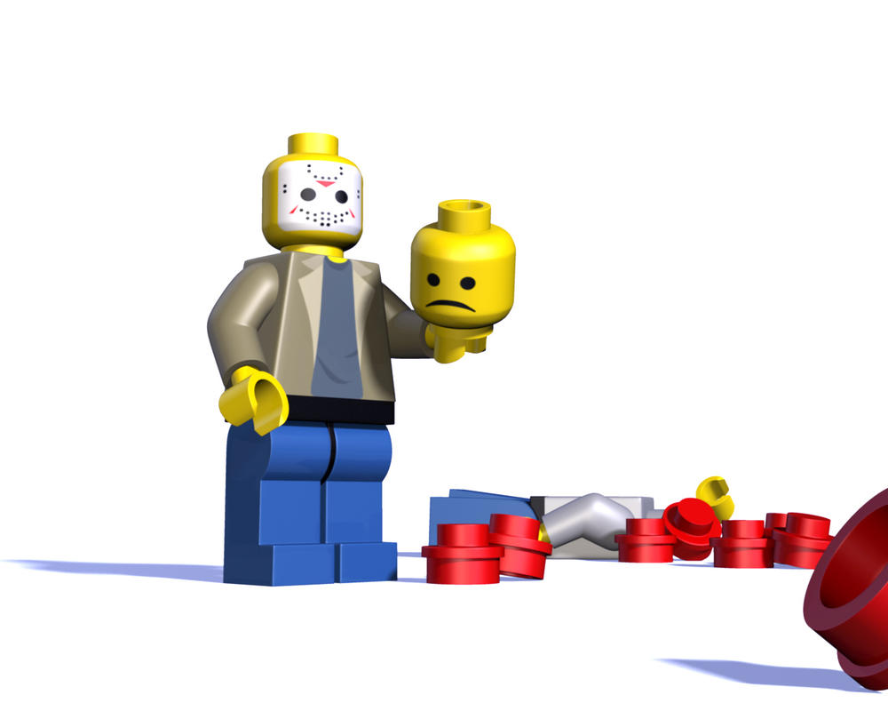 LEGO vs. Jason by HyraxAttax