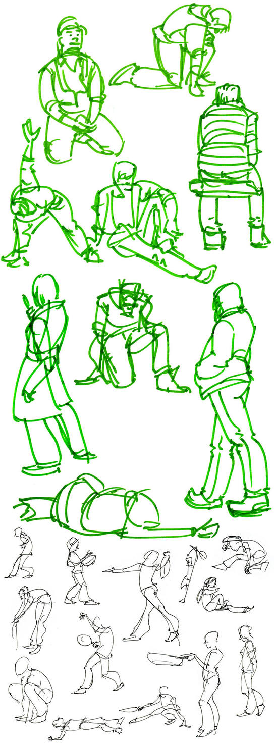 January Gesture Dump by HyraxAttax