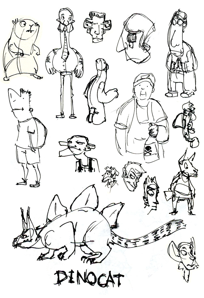 Sketchbook Drawings - Fall 2011 by HyraxAttax