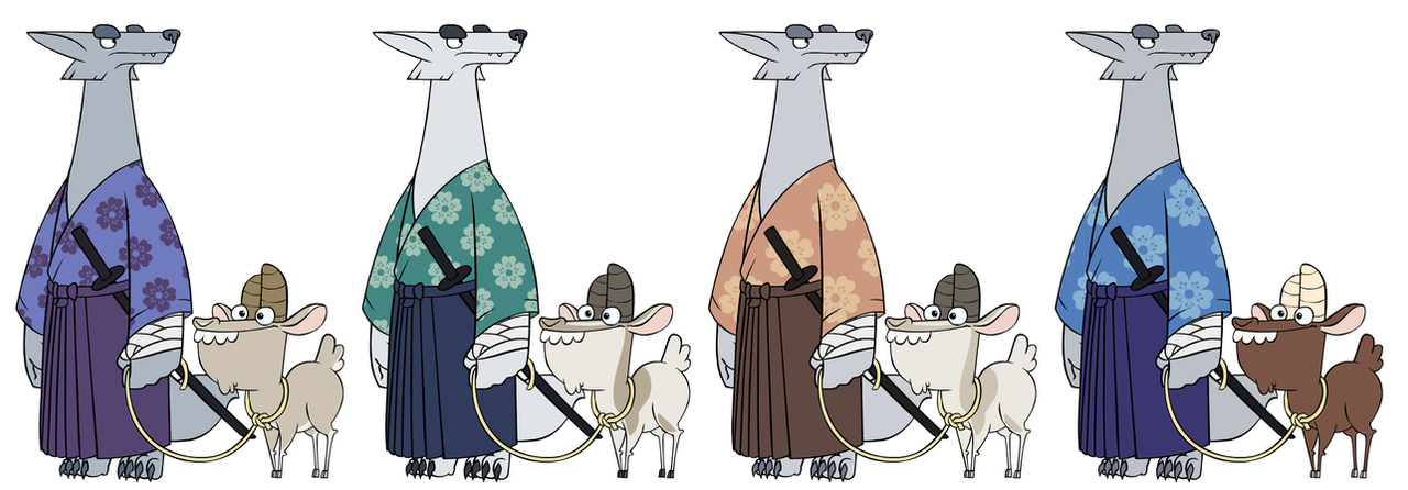 Wanjuro and Goatfrey - Color Comps by HyraxAttax