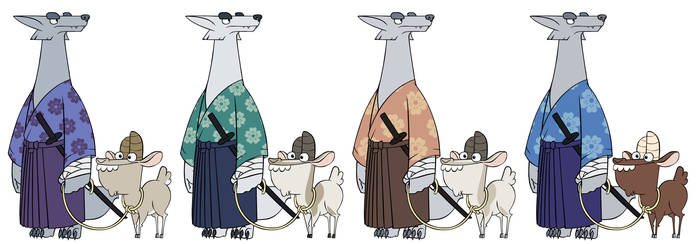 Wanjuro and Goatfrey - Color Comps