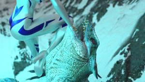 Lizardman Saurus vs BlueWater