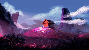 A cabin on the hill