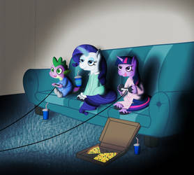 [R] Game Night by SerenePony