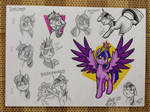 Sketch doodles: Twilight Sparkle by SerenePony