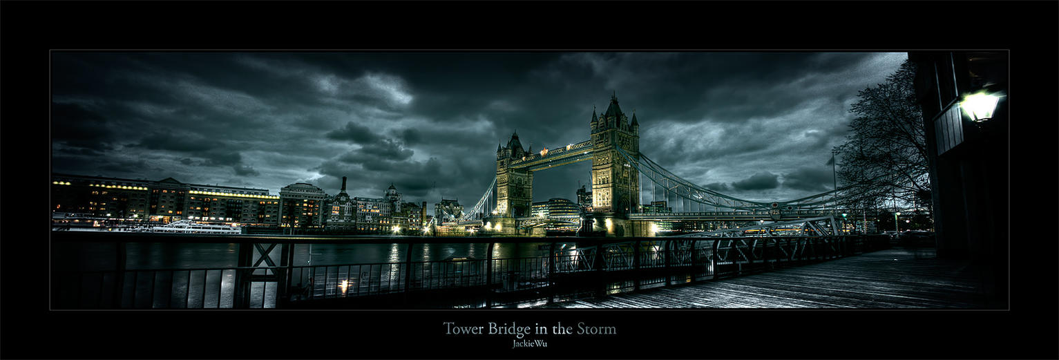 Tower Bridge in the Storm by geckokid