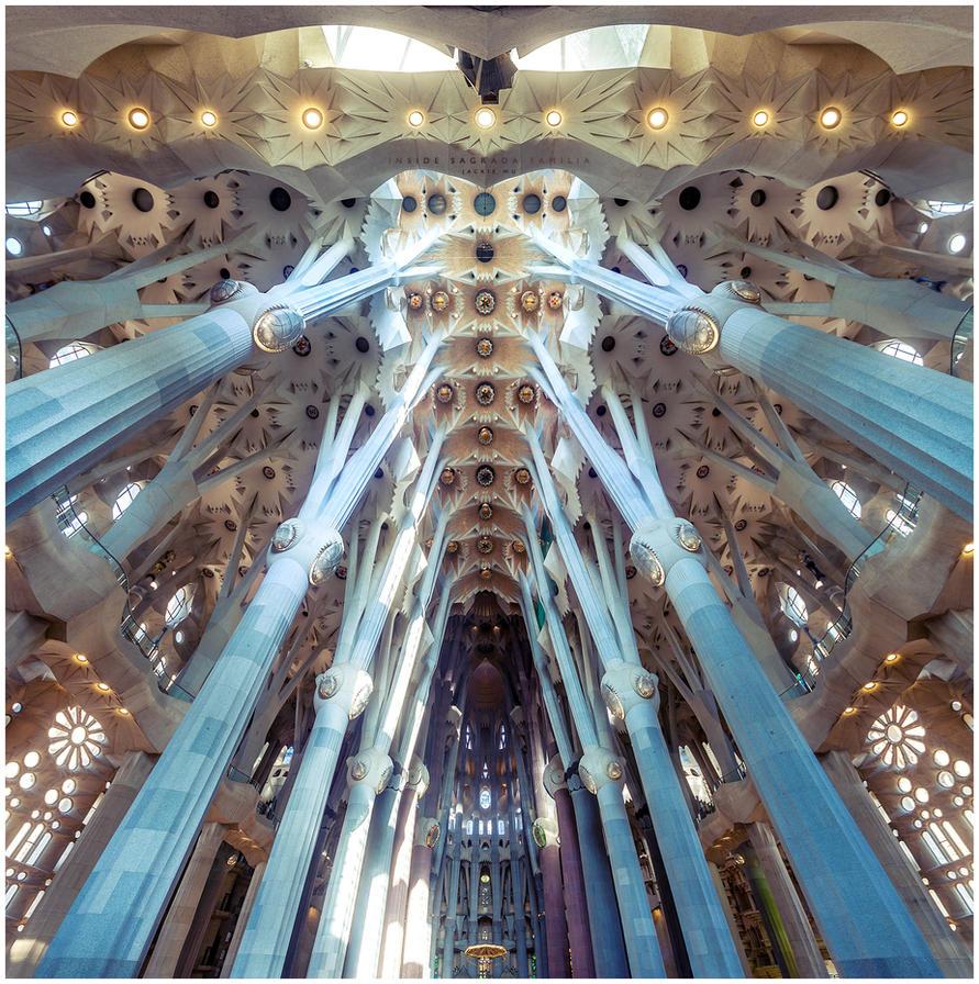 Inside Sagrada Familia by geckokid