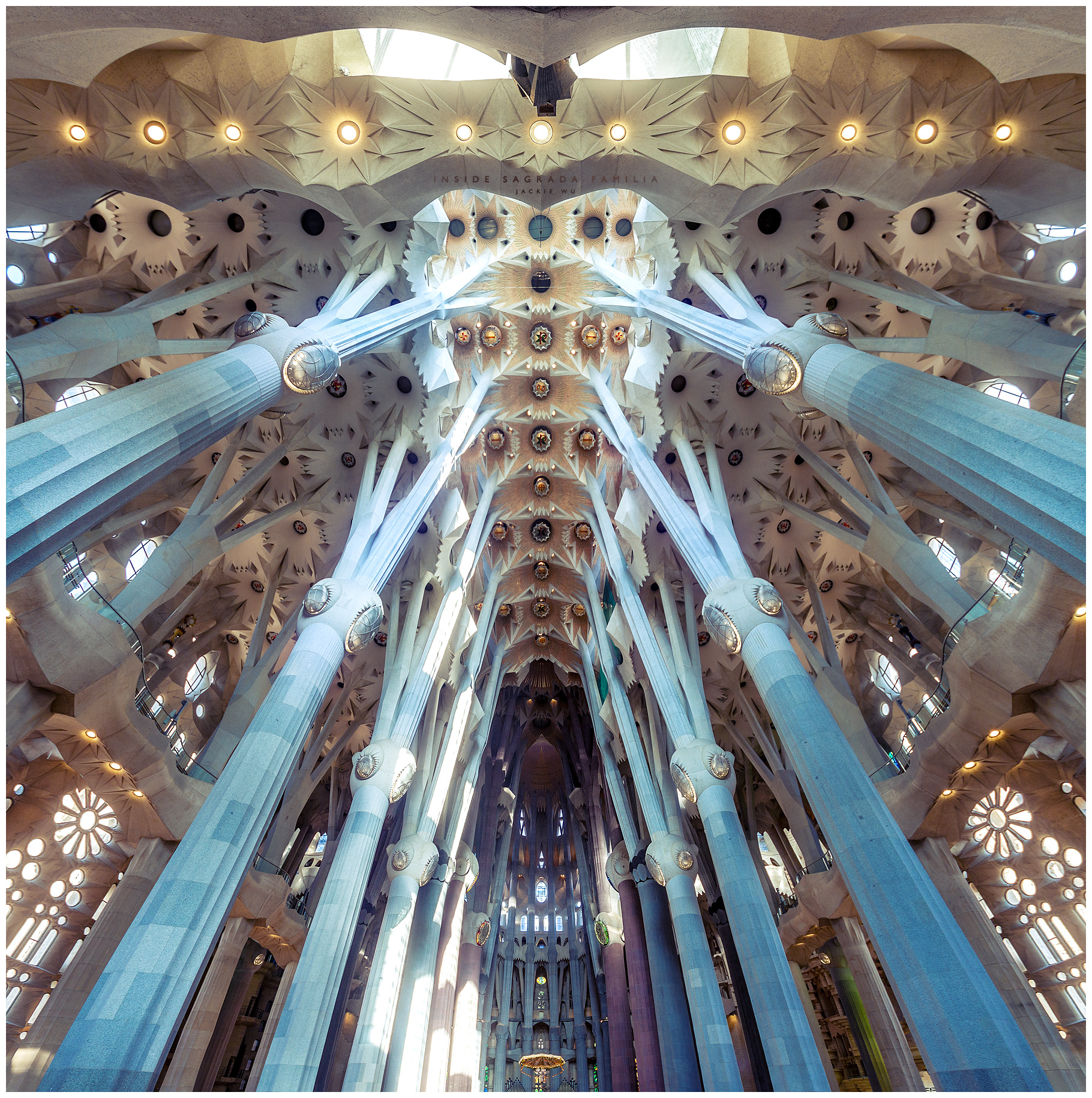 Inside Sagrada Familia by geckokid