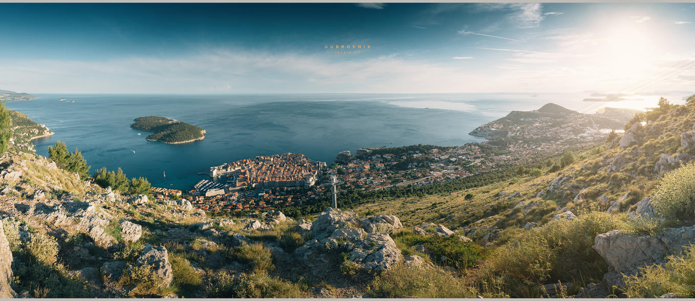 Dubrovnik (from above) by geckokid