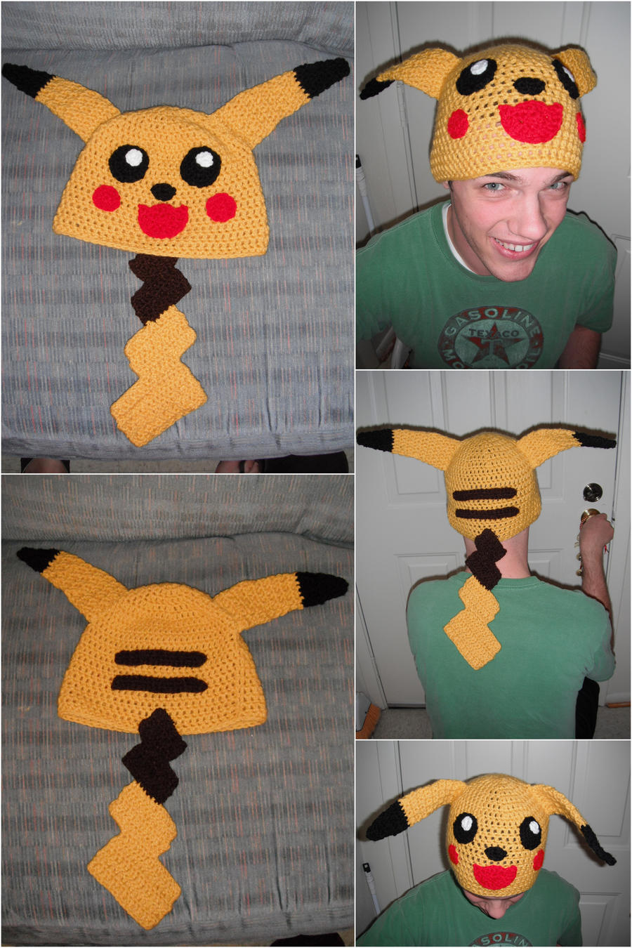 Crochet Pikachu Hat by Mormongoaliegurl on DeviantArt