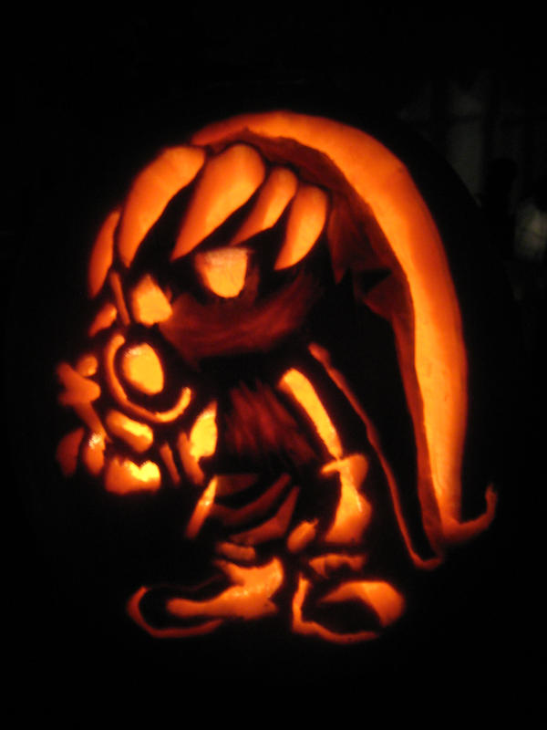 Deku link pumpkin dark by shyguyband on deviantart