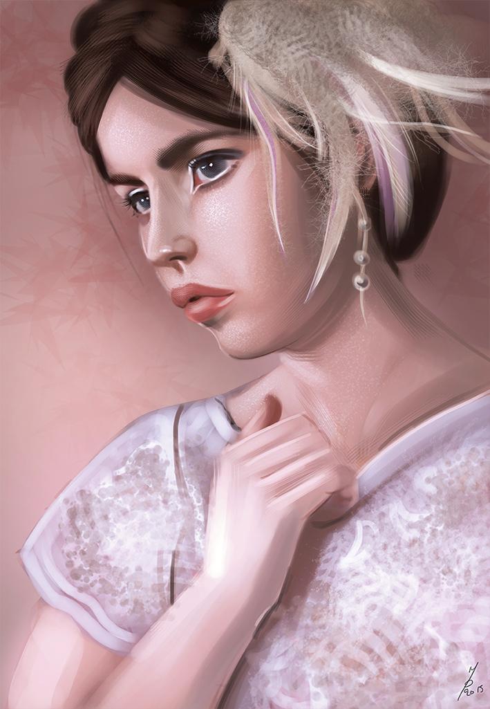 Portrait study by Mutsumipat