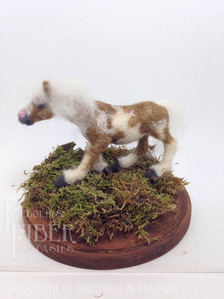 Miniature Needle Felt Paint Horse by shadechristiwolven