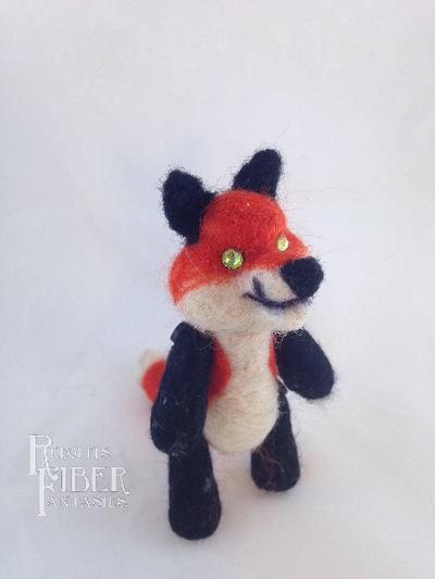 Needle Felt Red Fox Lil' Buddy by RRedolfi