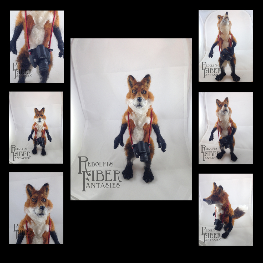 Needle Felt Fox Doll, compilation image by RRedolfi
