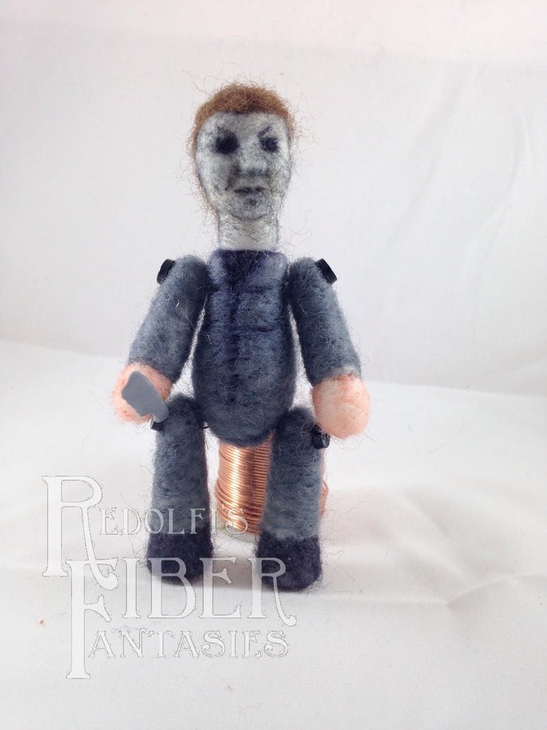 Needle Felt Michael Lil' Horror Buddy Fanart by shadechristiwolven