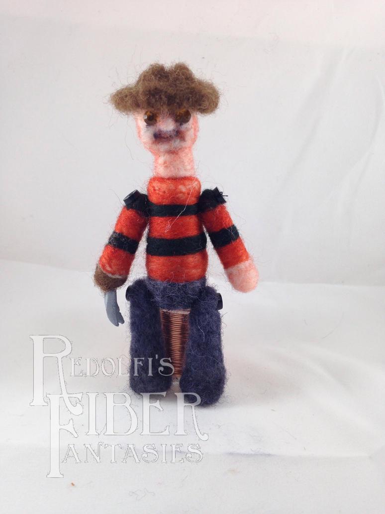 Needle Felt Freddy Lil' Horror Buddy Fanart by shadechristiwolven