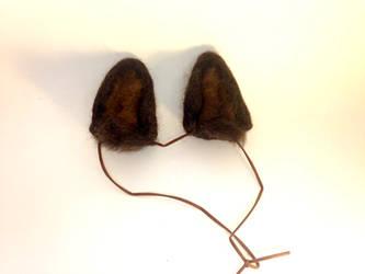 Needle Felt Brown Wolf Ears by RRedolfi