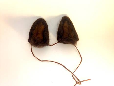Needle Felt Brown Wolf Ears