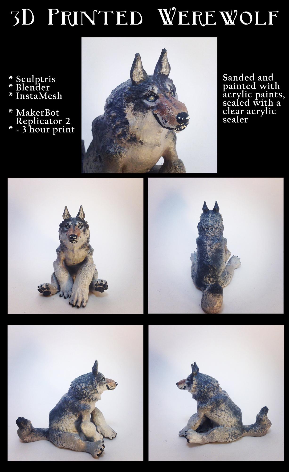 3D Printed Werewolf by RRedolfi