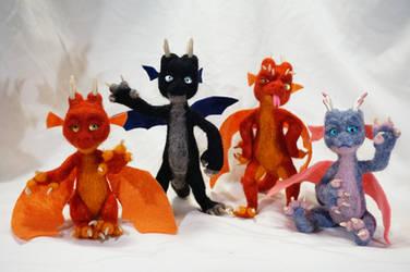 Needle Felt Baby Dragons