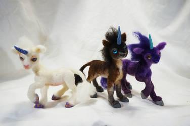 Needle Felt Baby Unicorns