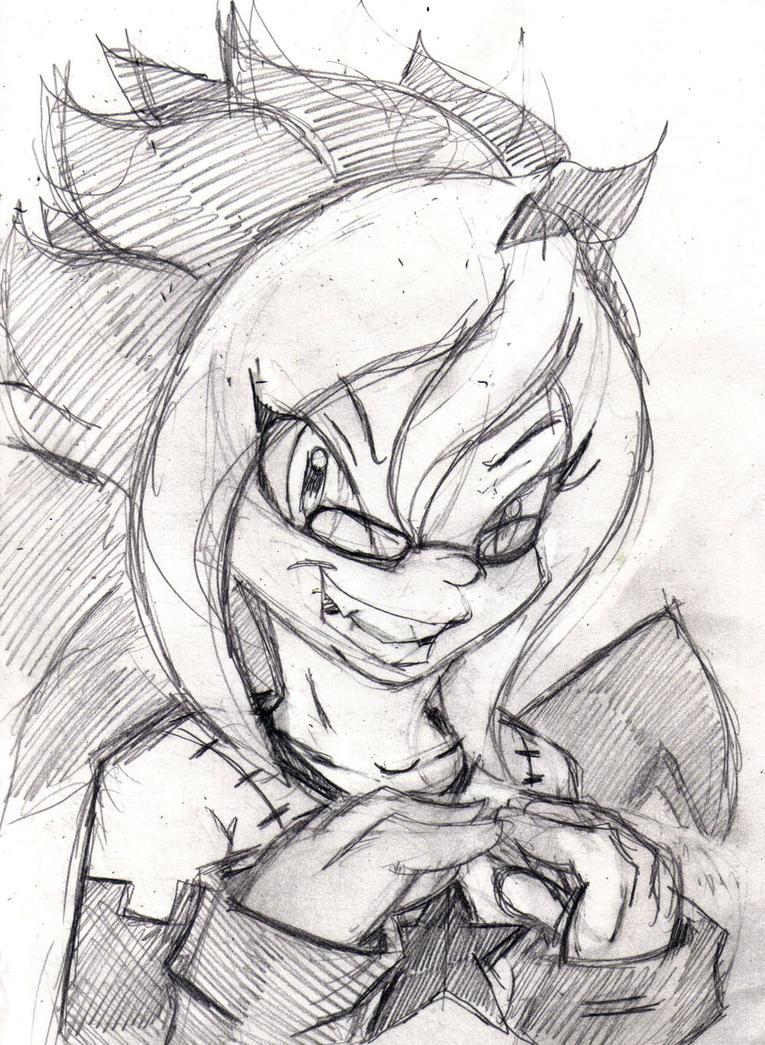 WiP: Holiday Sketch 17: Yachi by mhedgehog21