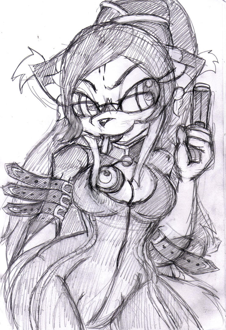 WIP: RD: Robecca as Bayonetta by mhedgehog21