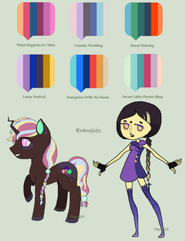 OPEN 40 Point Pony and Humanoid Palette Adopts!