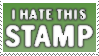 I hate it stamp by tufto