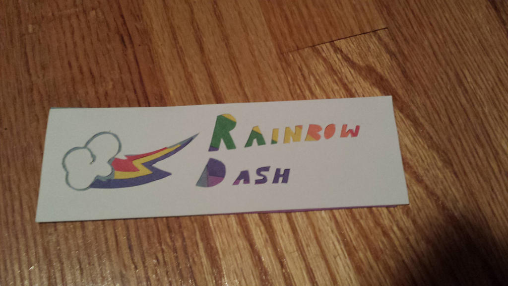 Rainbow Dash Bookmark by NightPrincessLuna