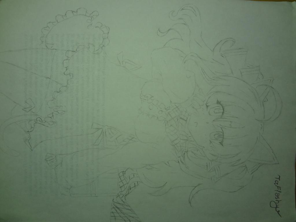 Sketchy Lineart WIP for Flashy by NightPrincessLuna