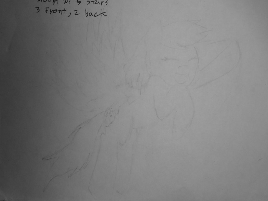 Sketch of Rei by NightPrincessLuna